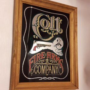 COLT FIREARMS Company mirror sign wall man cave